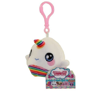 Squeezamals Series 2 Rainbow Narwhal 3-Inch Clip On