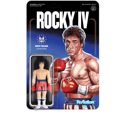 Rocky IV ReAction Figure -  Rocky Balboa (Flag Shorts)