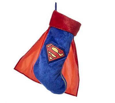 Superman Applique Stocking with Cape by Kurt Adler