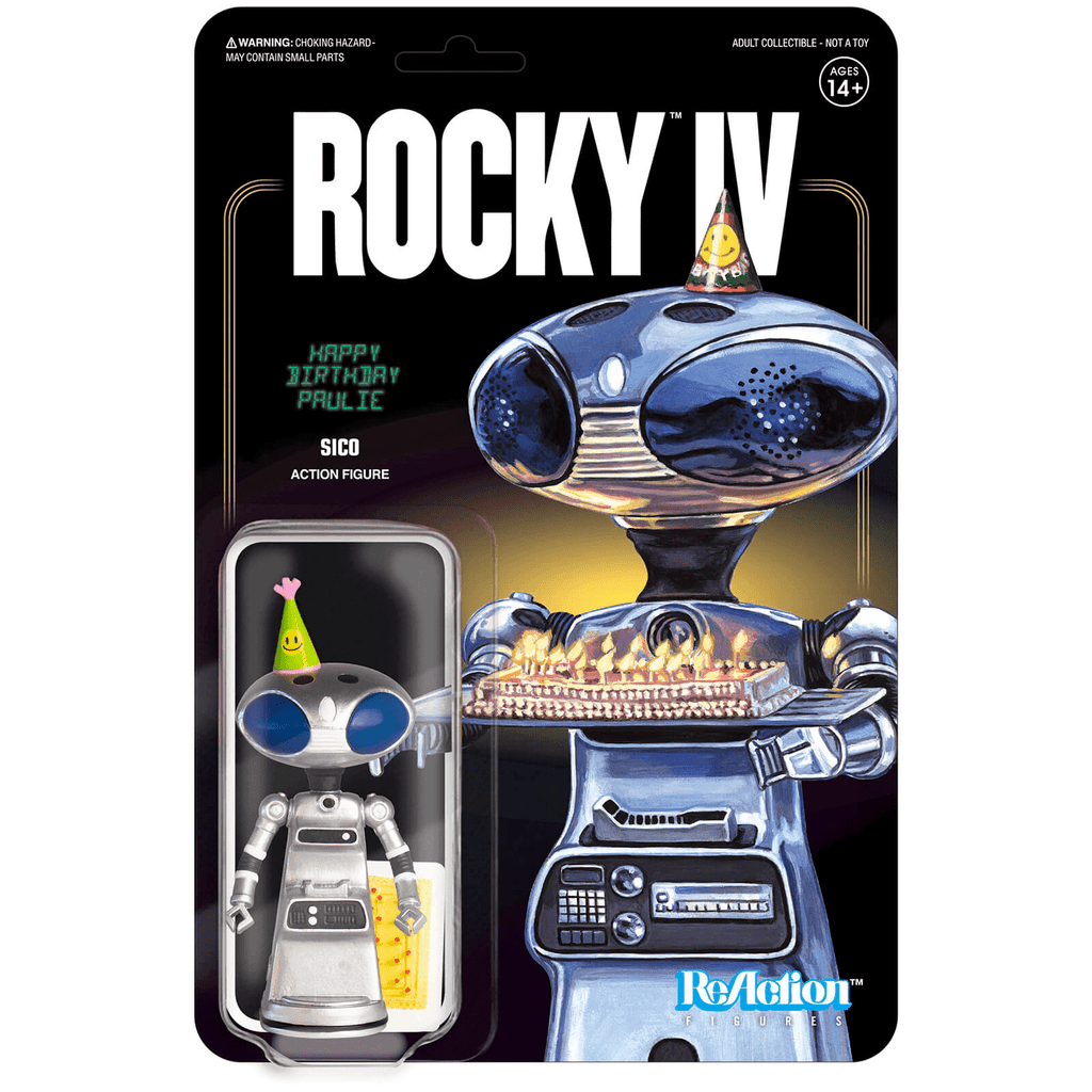 Rocky IV ReAction Figure -  Sico (Paulie's Robot with Birthday Cake)