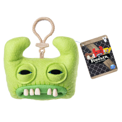 Fuggler Funny Ugly Monster, Collectible Plush Clip-on, Sir Horns-A-Lot - Green