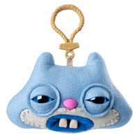 Fuggler Funny Ugly Monster, Collectible Plush Clip-On, Sketchy Squirrel - Periwinkle Blue