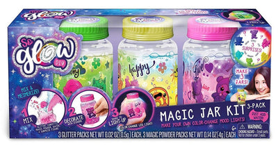 So Glow DIY Mini Magic Jar Kit 3-Pack Happy