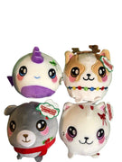 Squeezamals Holiday Series Set of 4 3.5-Inch Plush