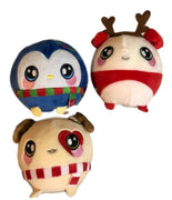Squeezamals Holiday Series Set of 3 3.5-Inch Plush