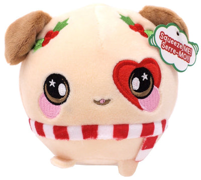 Squeezamals Holiday Series Dale Dog 3.5-Inch Plush