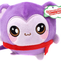 Squeezamals Holiday Series Marcie Monkey 3.5-Inch Plush