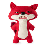 "Fuggler Funny Ugly Monster, 9"" Suspicious Fox Plush Creature with Teeth - Red"