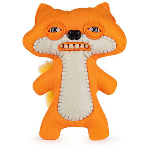 "Fuggler Funny Ugly Monster, 9"" Suspicious Fox Plush Creature with Teeth - Orange"
