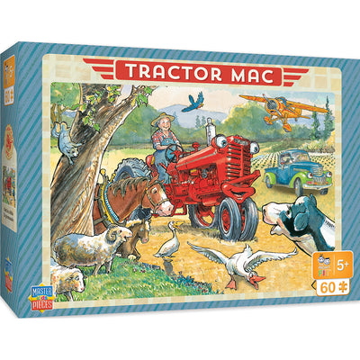 MasterPieces Tractor Mac Right Fit - Out For a Ride 60 Piece Jigsaw Puzzle