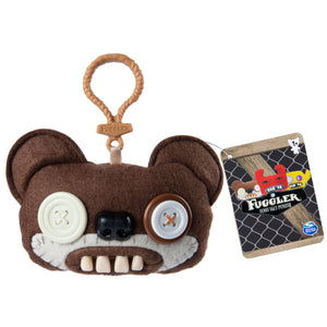 Fuggler Funny Ugly Monster, Collectible Plush Clip-On, Teddy Bear Nightmare - Brown