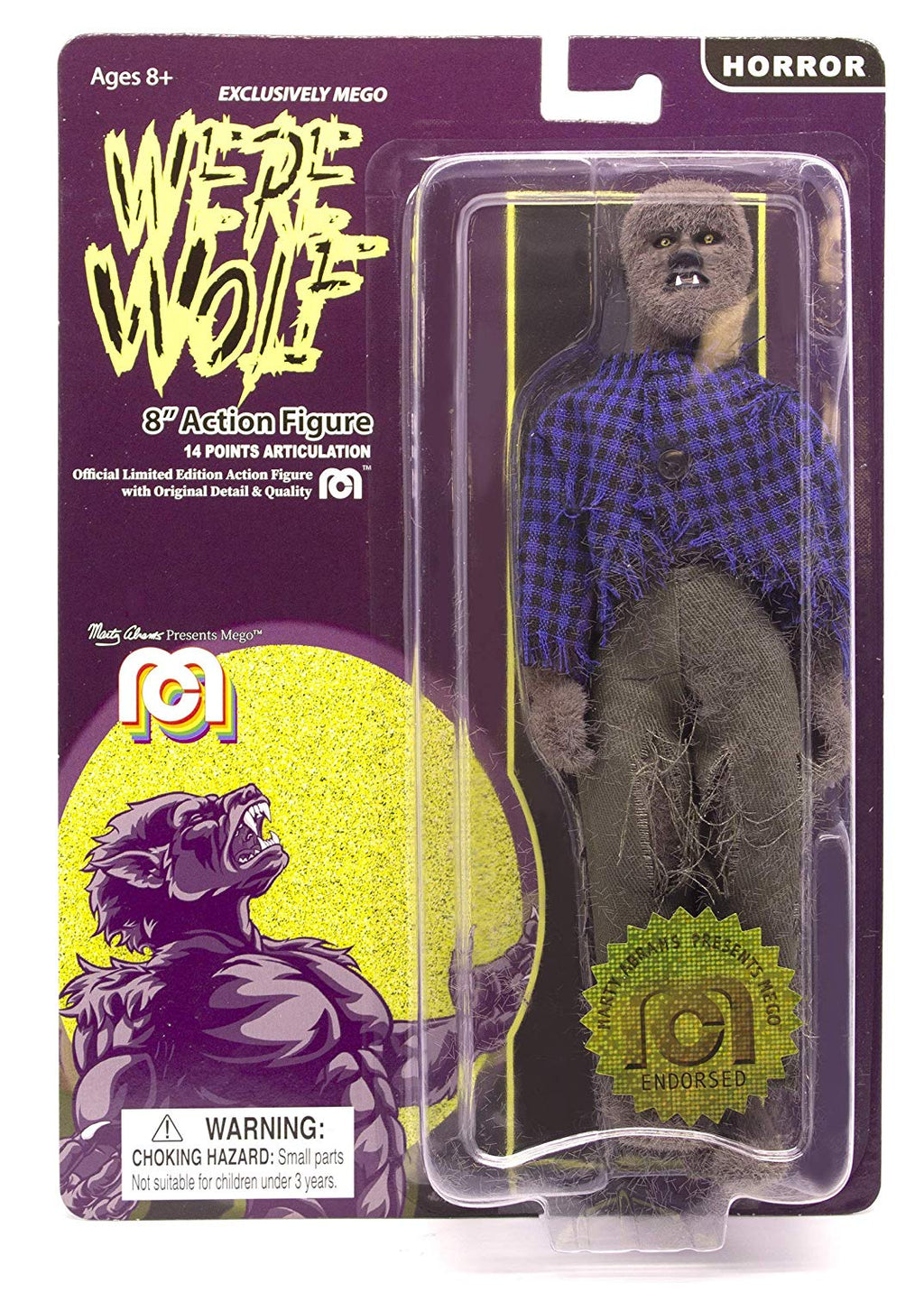 "Horror Wave 6 - The Face Of The Screaming Werewolf 8"" Action Figure (Full Body Flock and New Outfit) (Pre-Order Ships June)"