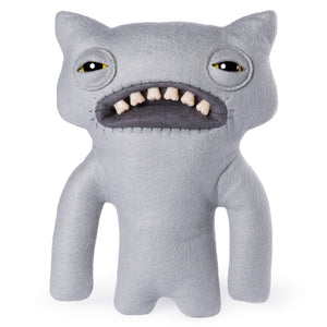 "Fuggler Funny Ugly Monster, 9"" WideEyed Weirdo Plush Creature with Teeth - Grey"