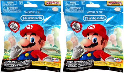 World of Nintendo Squish-Dee-Lish Super Mario Series 1 LOT of 2 Mystery Packs