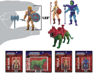 World's Smallest Masters of the Universe Set of 4 Micro Action Figures (Pre-Order Ships August)