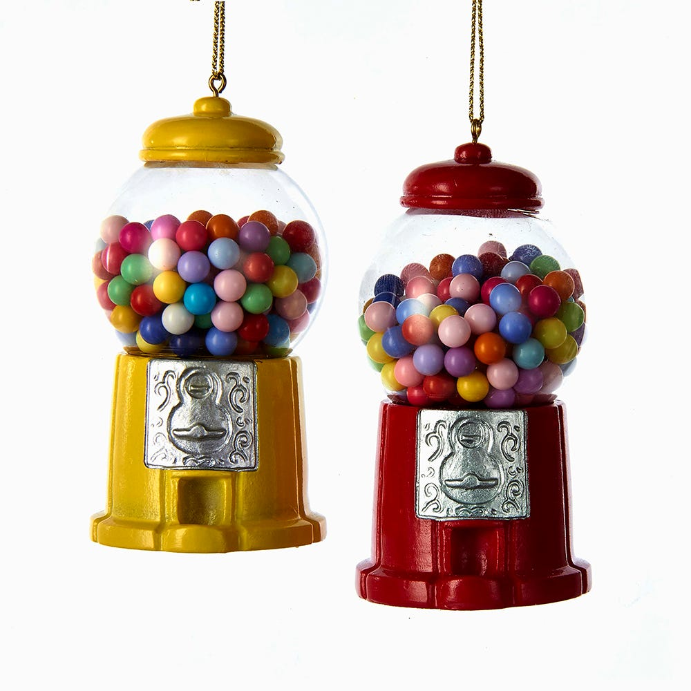 Gumball Machine Ornaments - Set of 2 by Kurt Adler