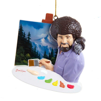 Bob Ross Painting for Personalization Ornament by Kurt Adler