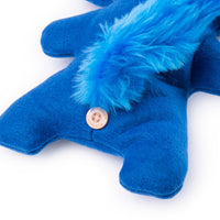 "Fuggler Funny Ugly Monster, 9"" Suspicious Fox Plush Creature with Teeth - Blue"