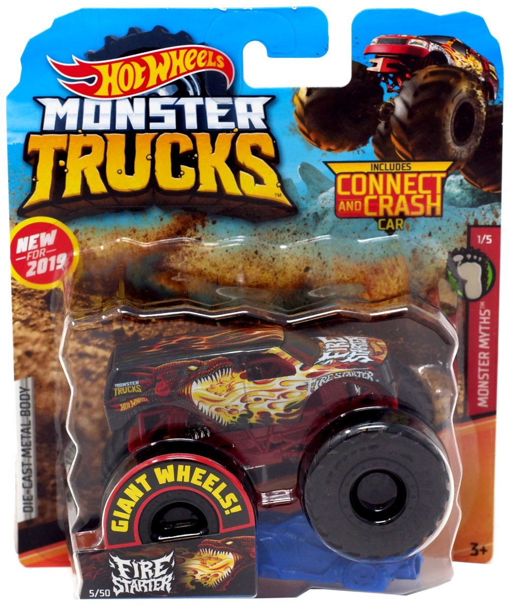 Hot Wheels Monster Trucks Fire Starter Die-Cast Truck #1/5 (Monster Myths)