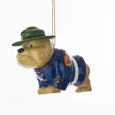 Kurt Adler U.S. Marine Corps Resin Bulldog Ornament