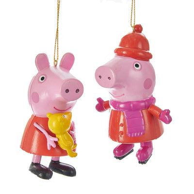Peppa Pig Blow Mold Ornaments - Set of 2 by Kurt Adler