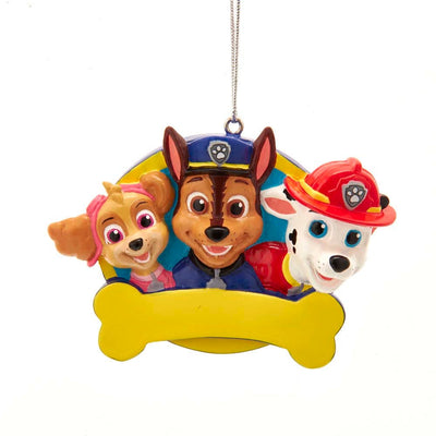 Paw Patrol with Bone for Personalization Ornament by Kurt Adler