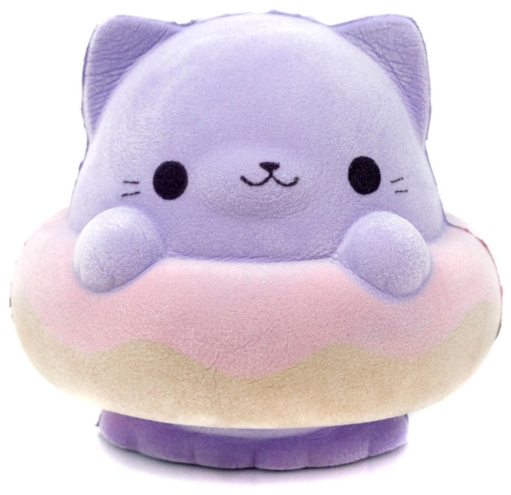 Soft'N Slo Squishies Velvet Cat Donut Squeeze Toy