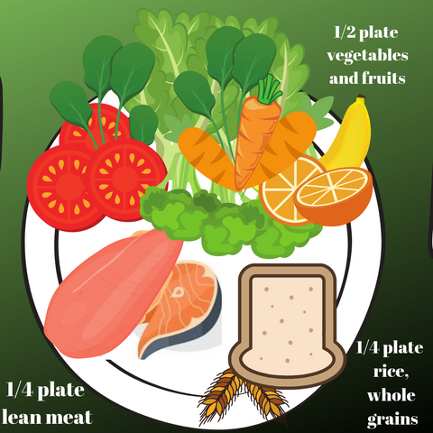 portion control meals nz - Fitfood - showing up a plate containing different nutrients