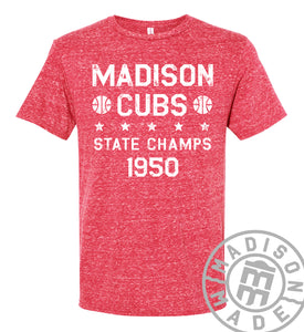 1950 State Champs Red Tee