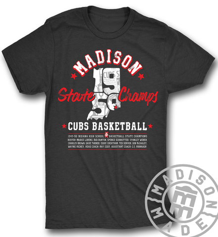 1950 State Champs Tee - Charcoal