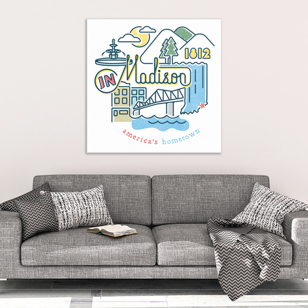 Madison Icons Canvas Print