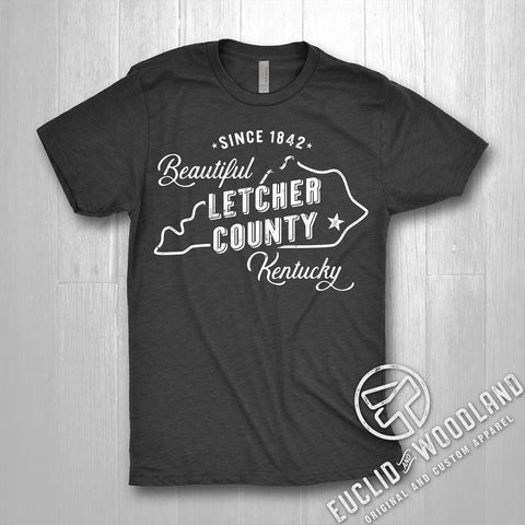Beautiful Letcher County Tee (HEATHER BLACK)