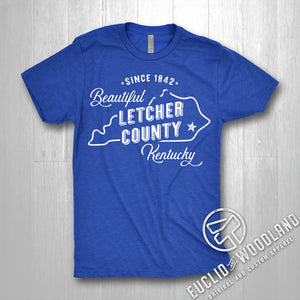 Beautiful Letcher County Tee (ROYAL)