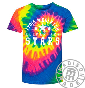 Lydia Youth Rainbow Tie-Dye Tee