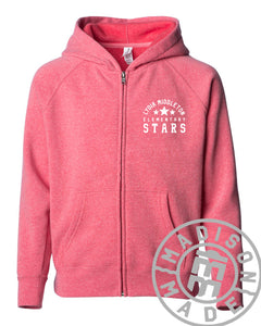 Lydia Youth Full-Zip Hoodie (Vintage Red)