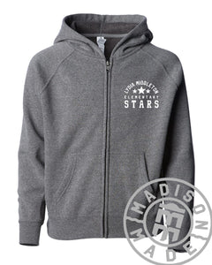 Lydia Youth Full-Zip Hoodie (Gray)
