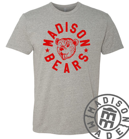 Madison Bears Gray Tee