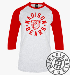 Madison Bears Youth Raglan (3/4) Tee