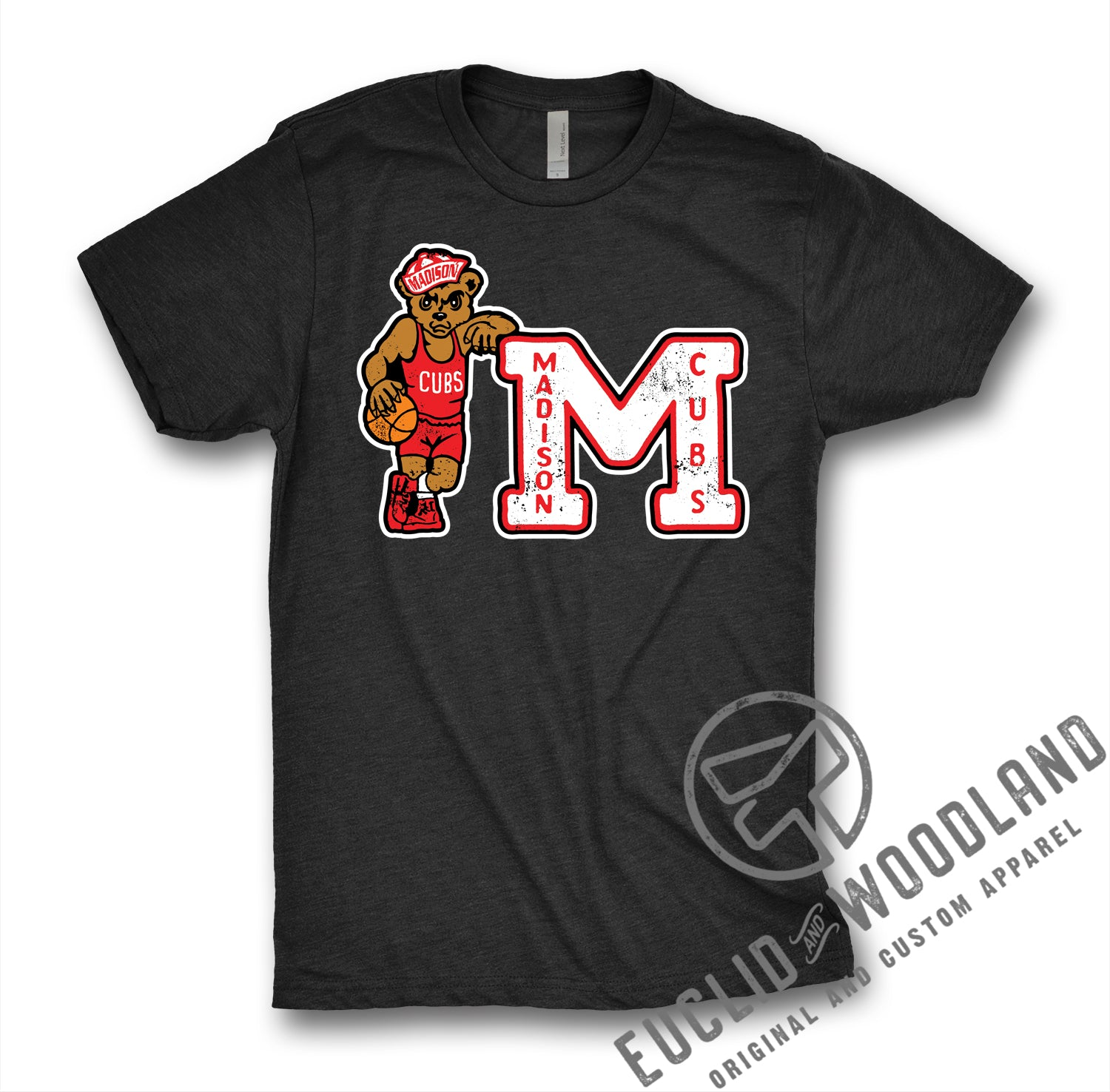 Madison Cubs Black Basketball Tee