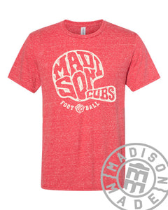 Madison Football Helmet Tee (Red)