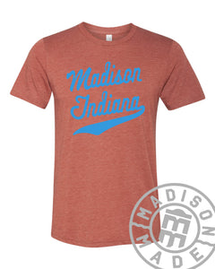 Madison Indiana Script Tee (Brick)
