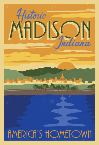 "Historic Madison River 12"" x 18"" Print"