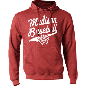Madison Baseball Hoodie - RED