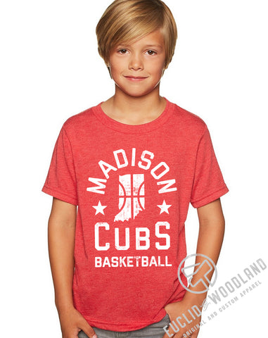 Madison Cubs Basketball Vintage Kids Tee