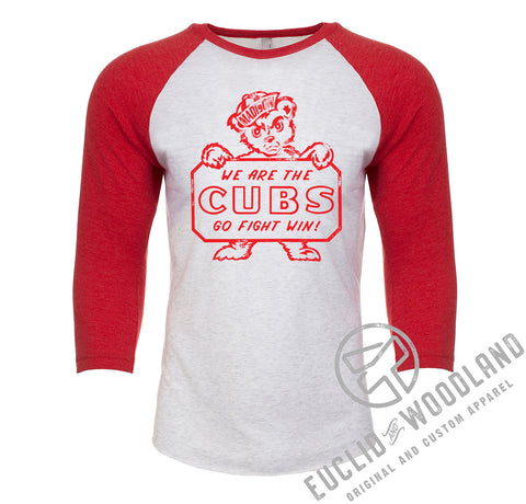 Madison Vintage Cubs Raglan Tee