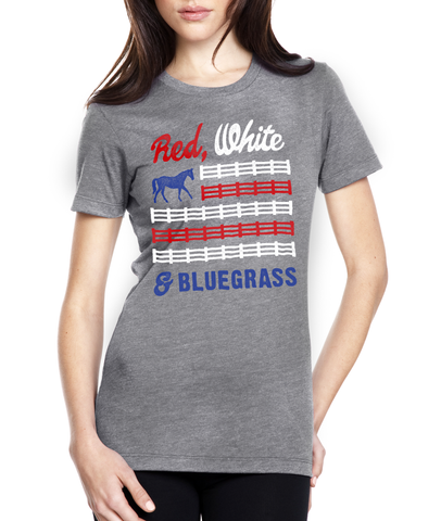 Red, White & Bluegrass Women's Tee