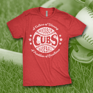 Madison Cubs Vintage Baseball Tee