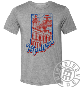 Madison State Outline Tee