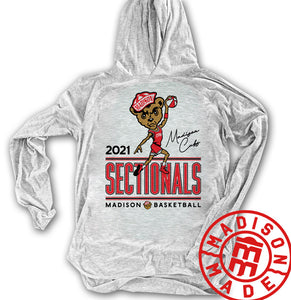 Madison Cubs 2021 Sectional Lightweight Hoodie