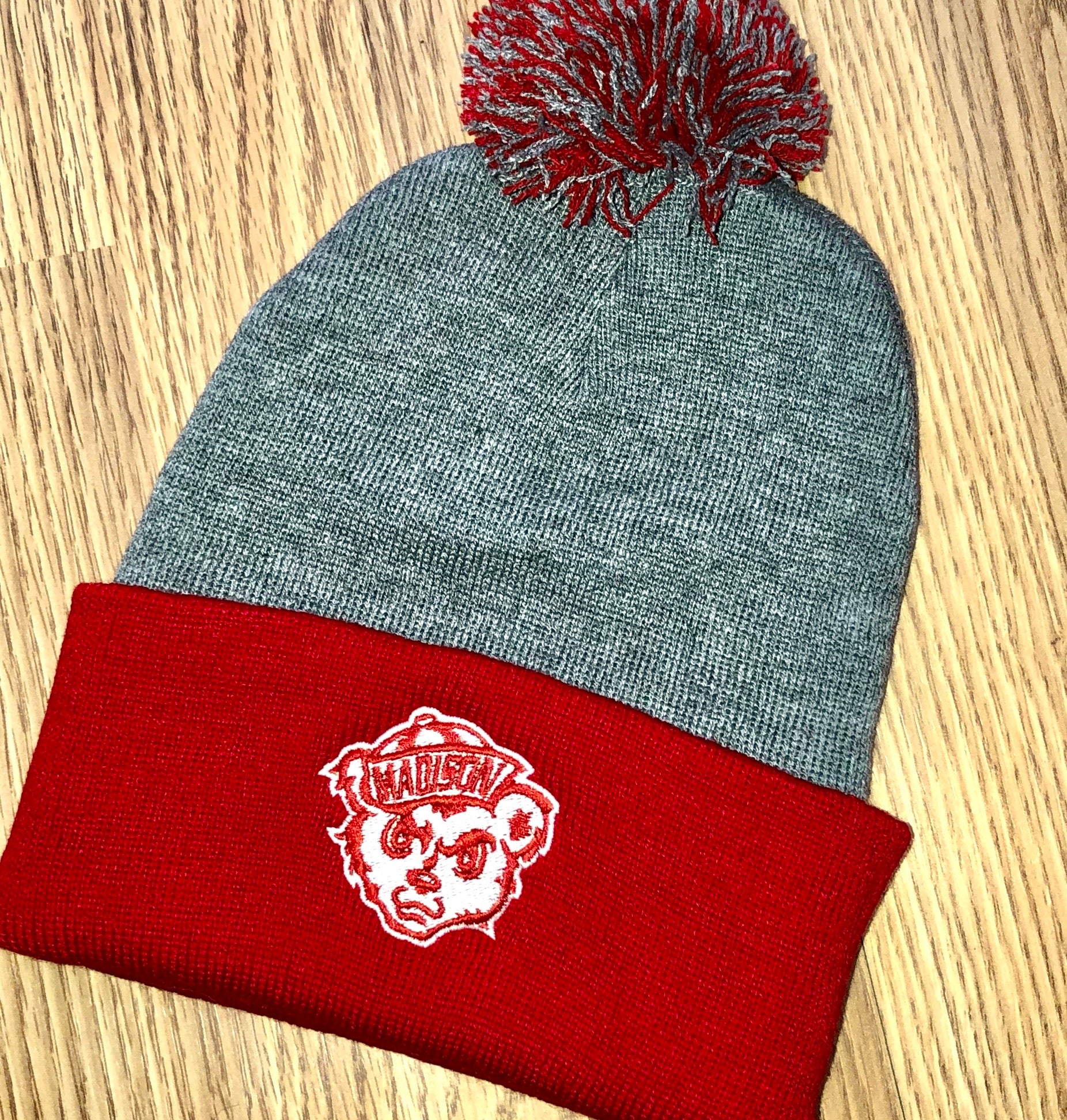 Madison Cubs Gray/Red Beanie